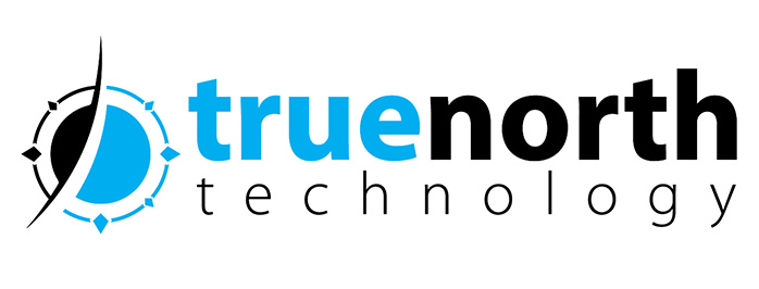 True North Technologies Compass Logo Horizontal No Tagline