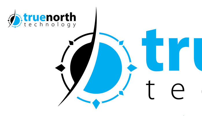 True North Technologies Compass Logo Horizontal Master